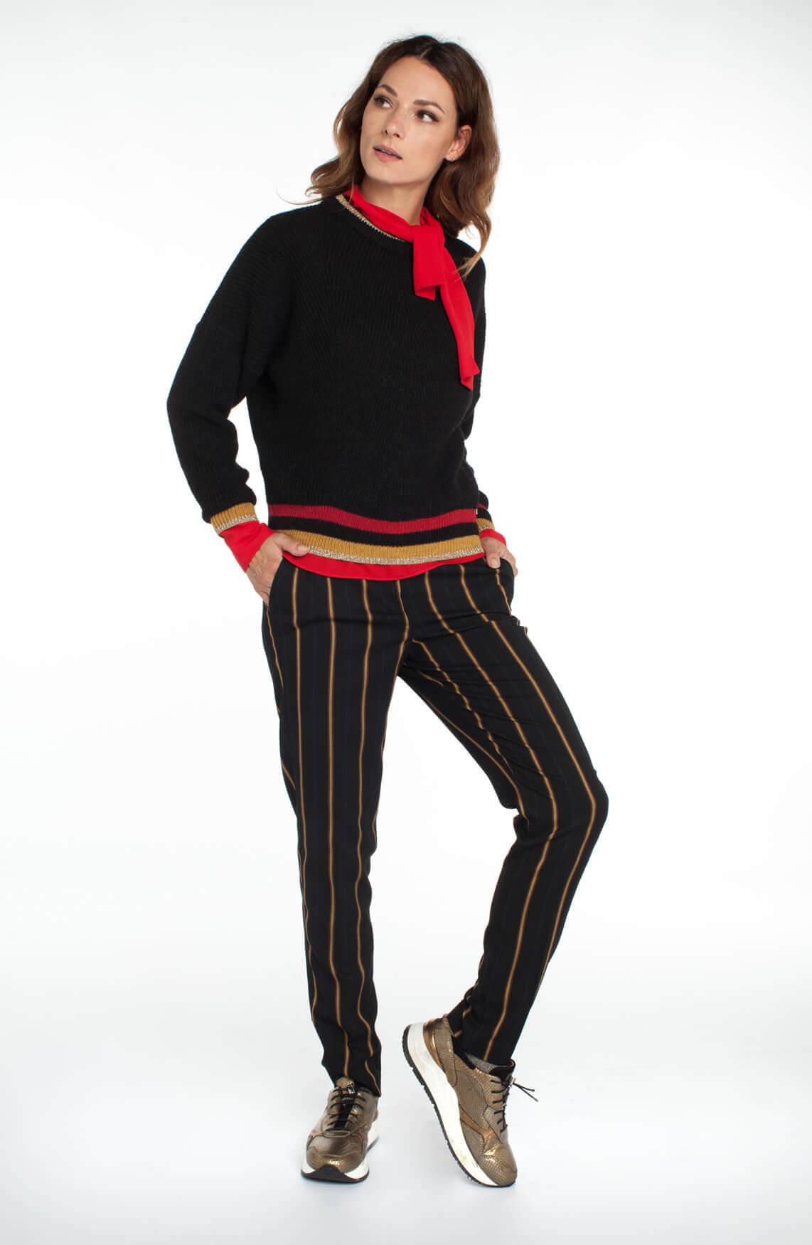 Kocca Dames Garbin gebreide pullover zwart