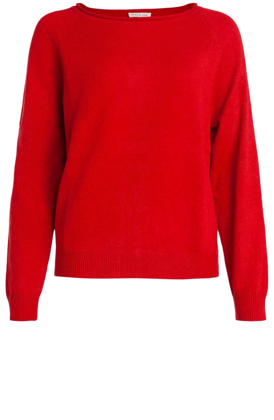 Kocca Dames Enaby pullover met knopen Rood
