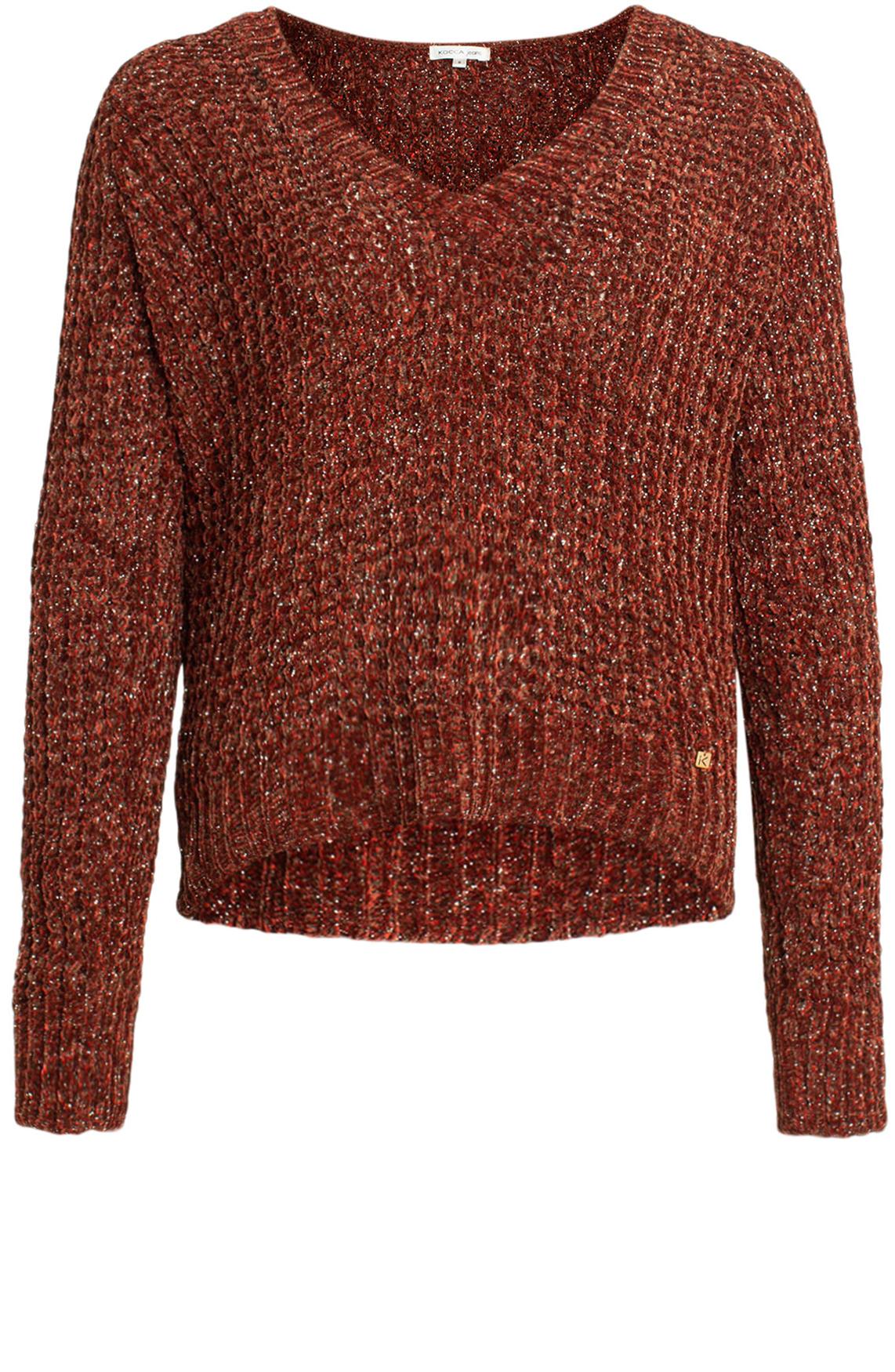 Kocca Dames Padul pullover met lurex Rood
