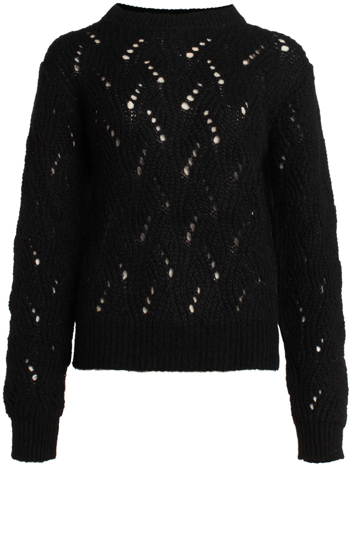 Kocca Dames Classic gebreide pullover zwart