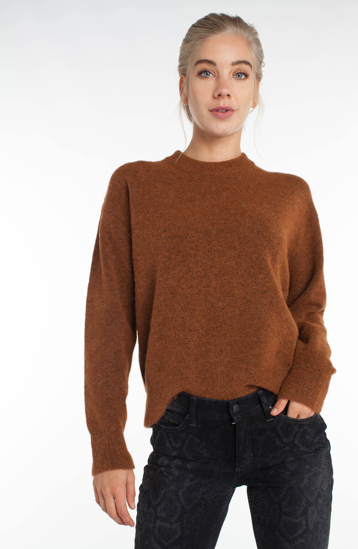 Samsoe Samsoe Dames Anour sweater Bruin
