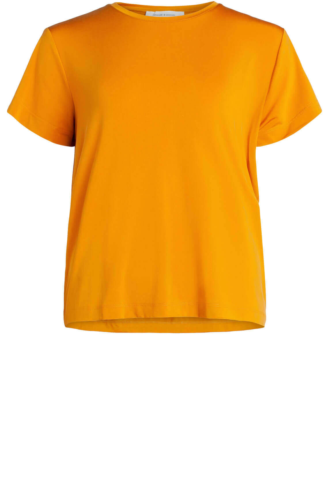 Samsoe Samsoe Dames Siff cupro shirt geel