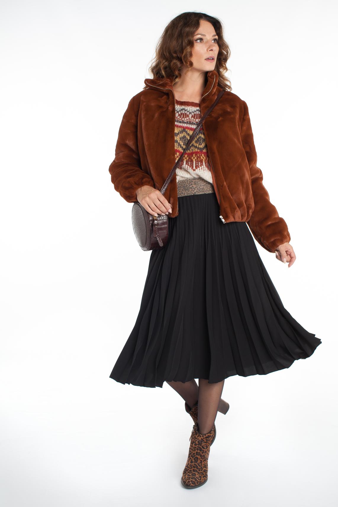 Samsoe Samsoe Dames Loulou fake fur jacket Bruin