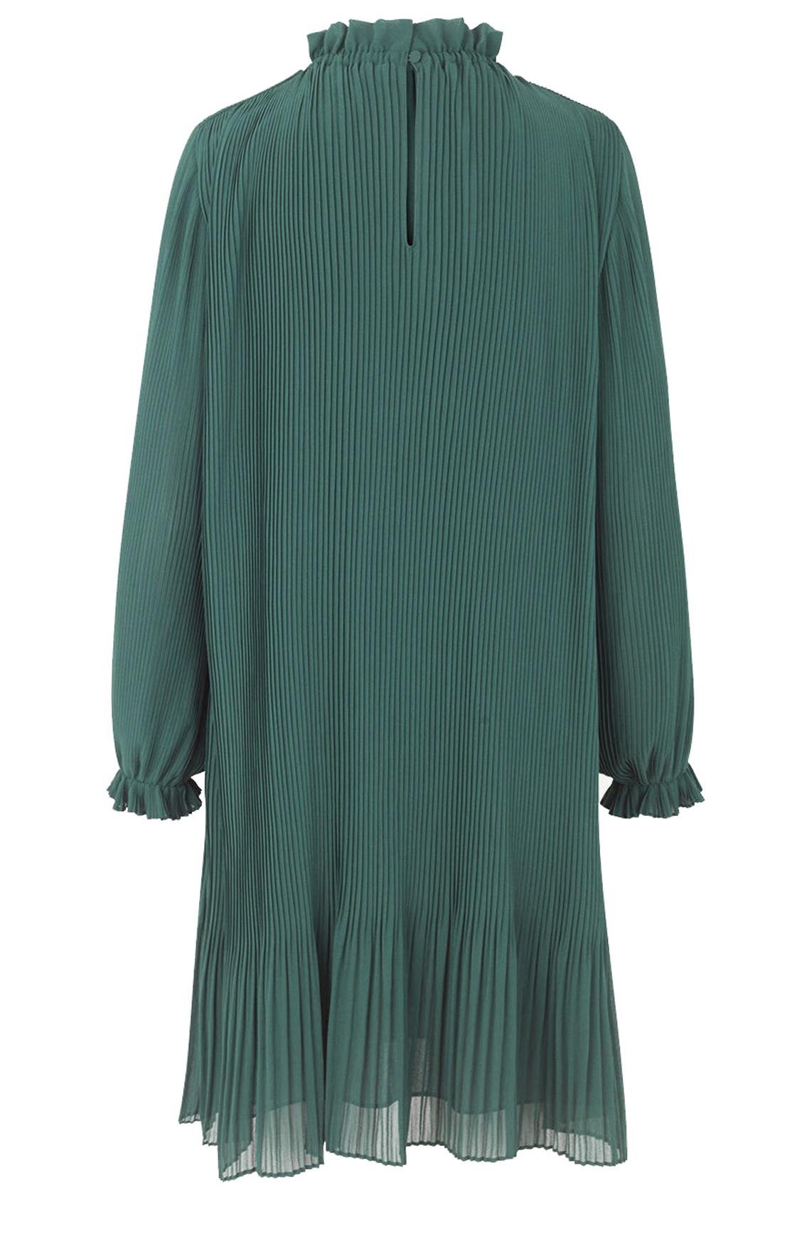 Samsoe Samsoe Dames Mindy plissé jurk groen