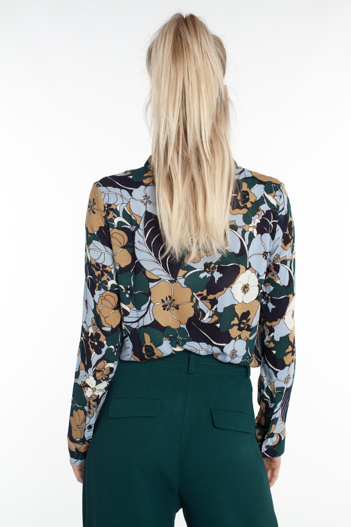 Samsoe Samsoe Dames Milly blouse met bloemenprint Blauw