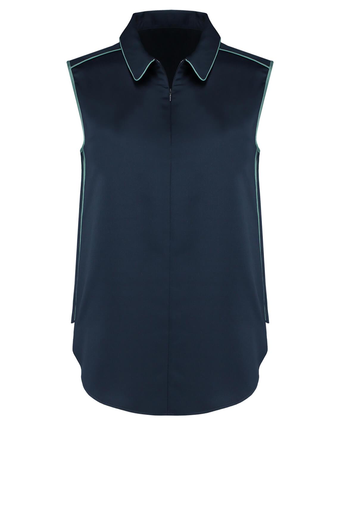 Fifth House Dames Selah mouwloze blouse Blauw
