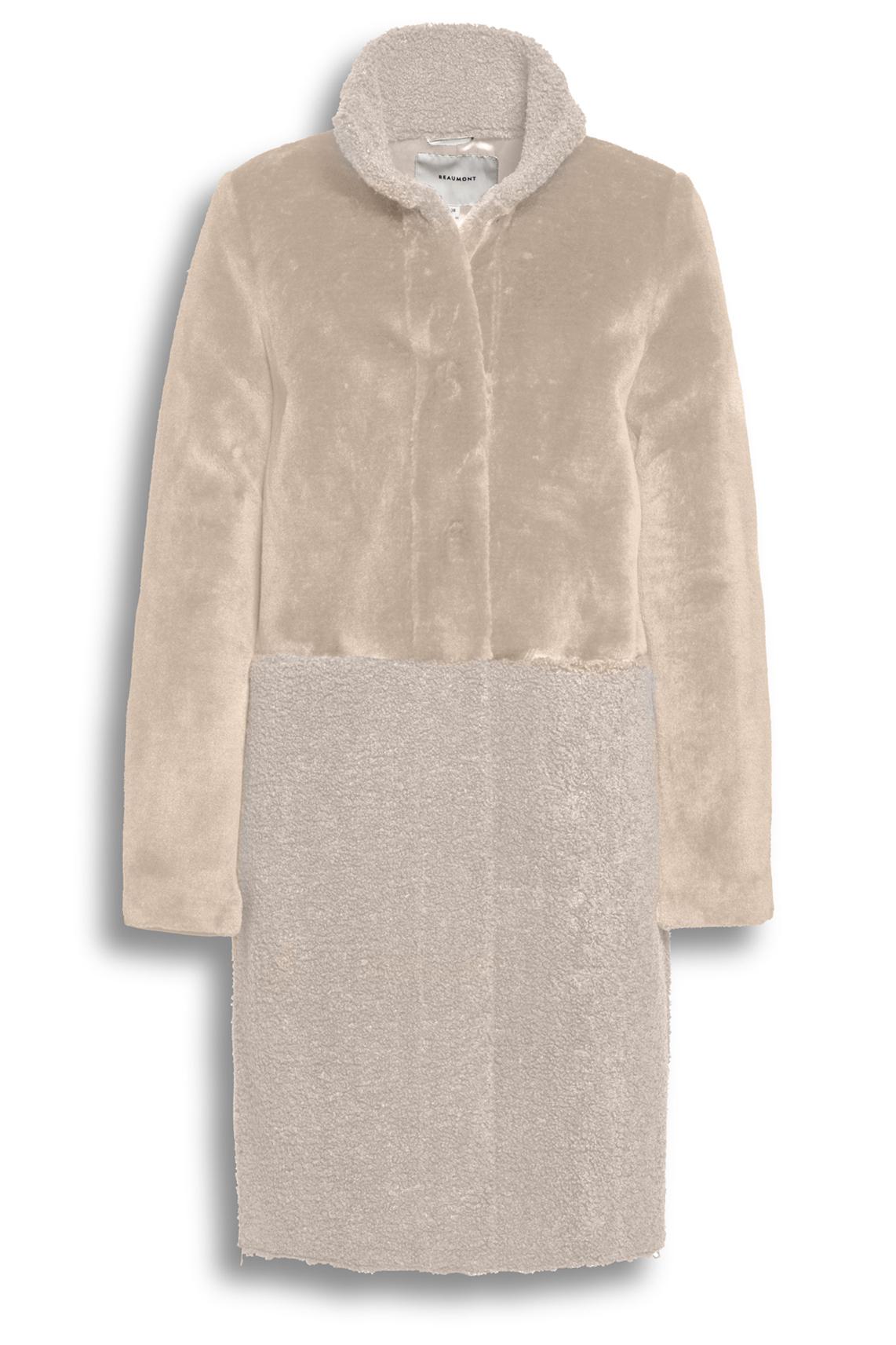 Beaumont Dames Materiaalmix mantel wit