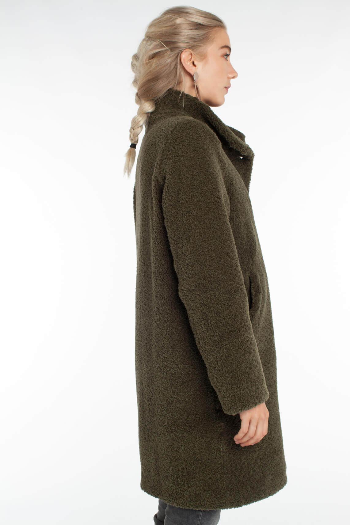 Beaumont Dames Teddy mantel groen