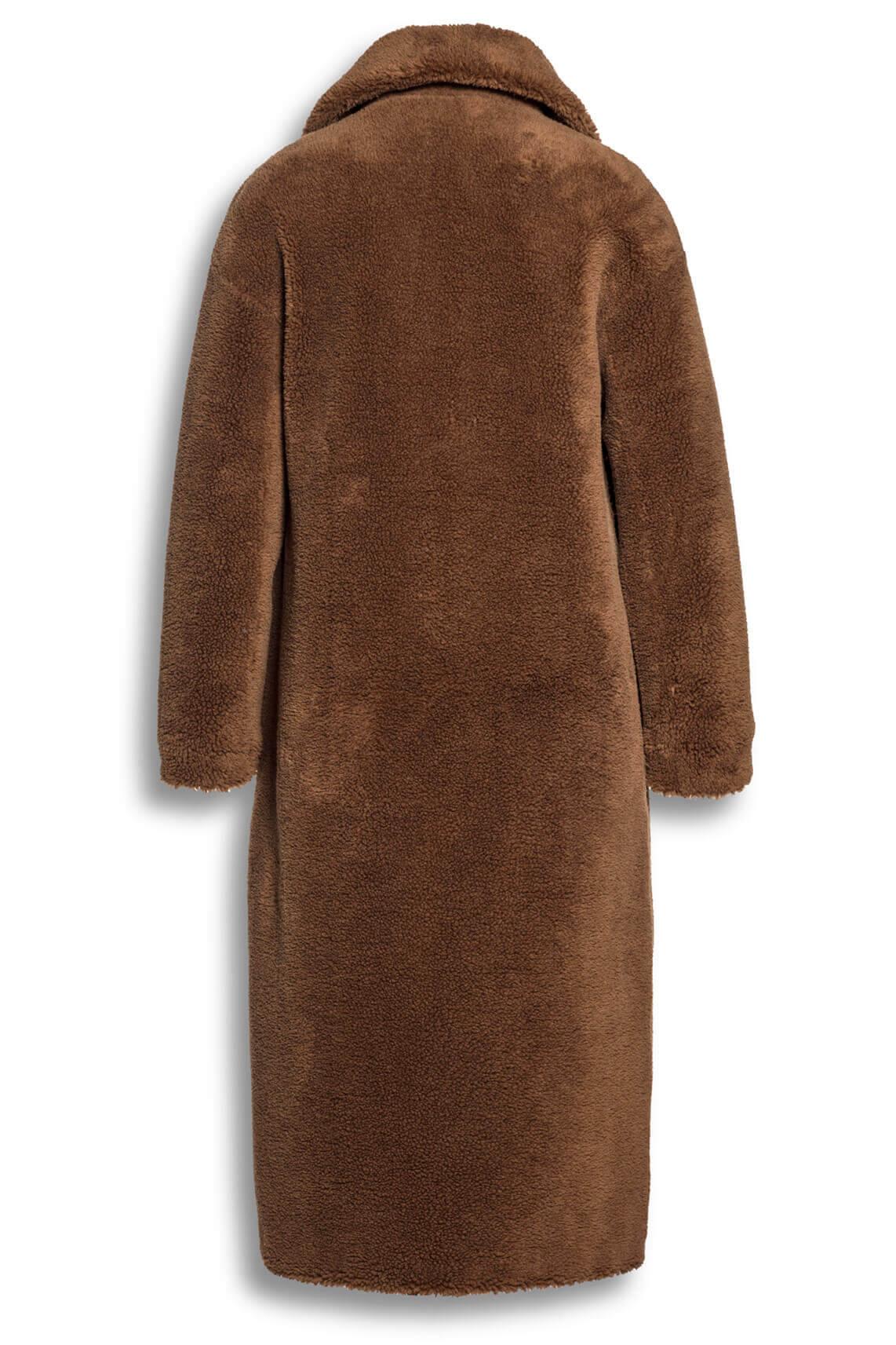 Beaumont Dames Lange teddy mantel Bruin