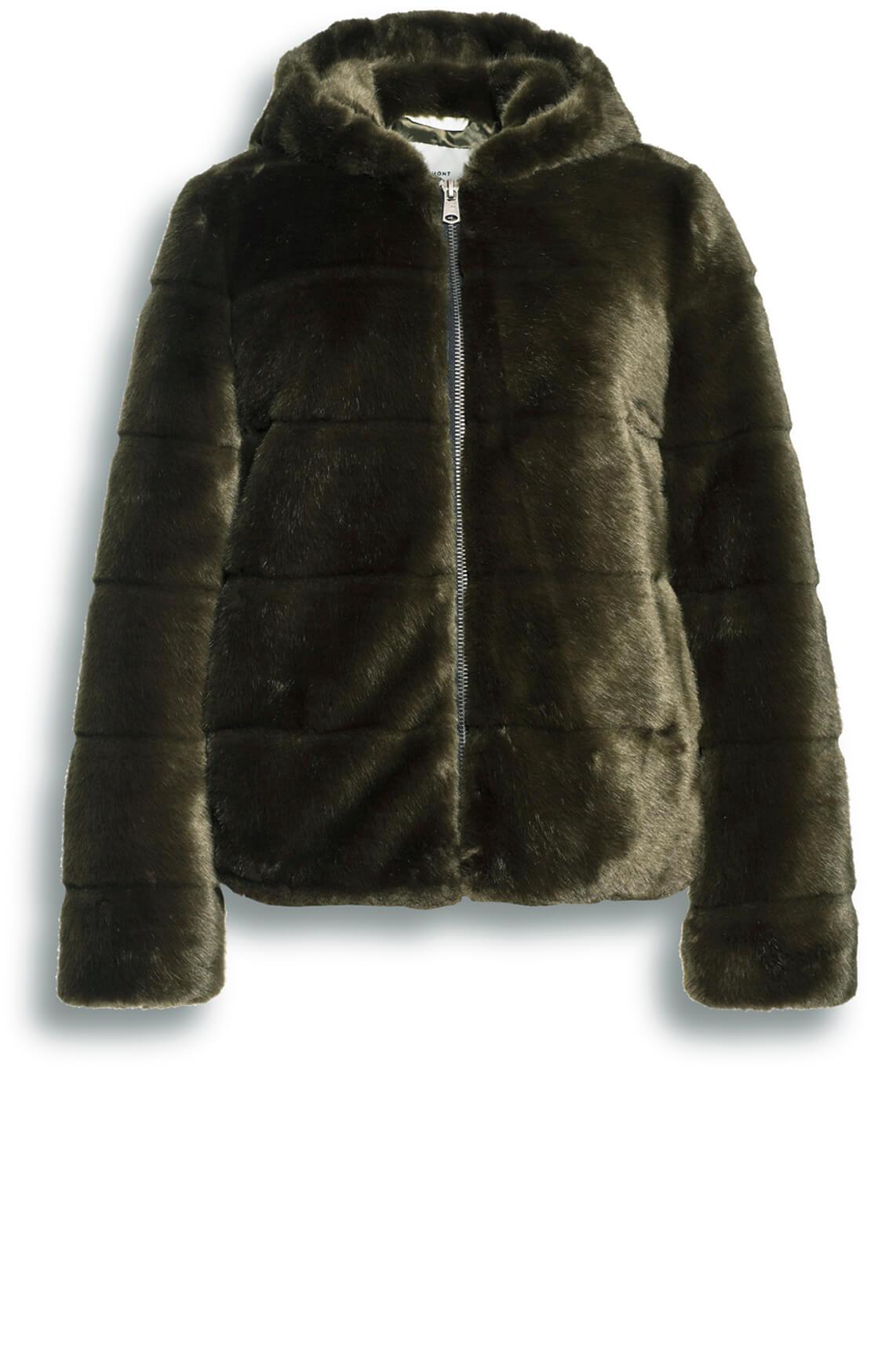 Beaumont Dames Fake fur jas groen