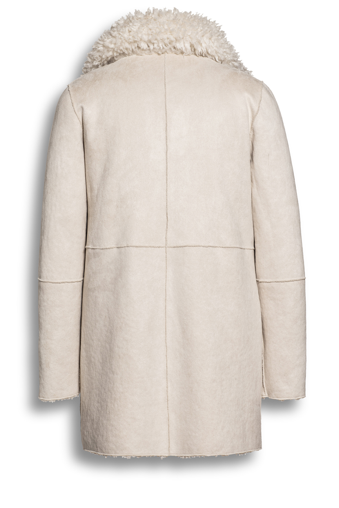 Beaumont Dames Reversibele lammy jas wit