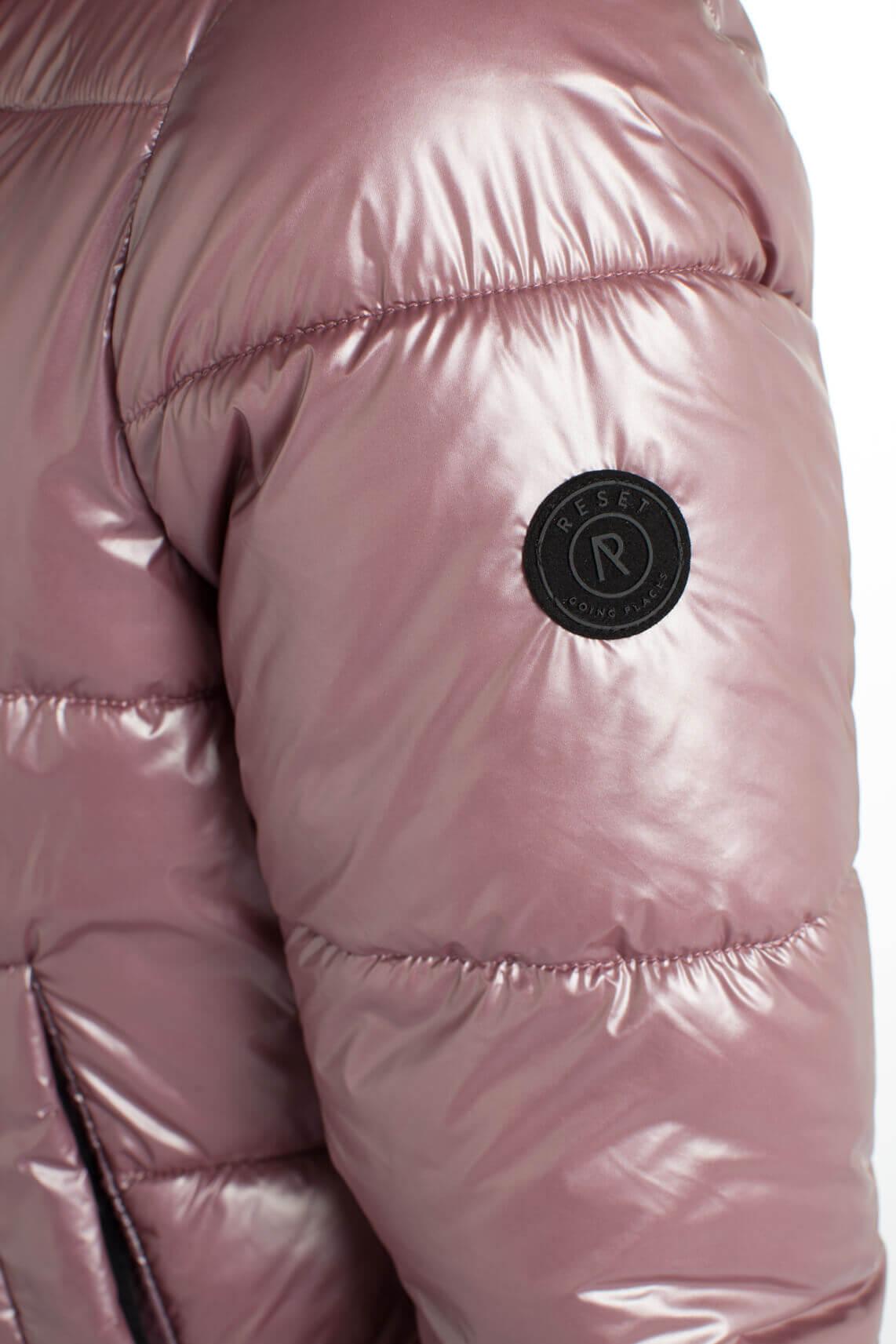 Reset Dames Anne korte gewatteerde jas roze