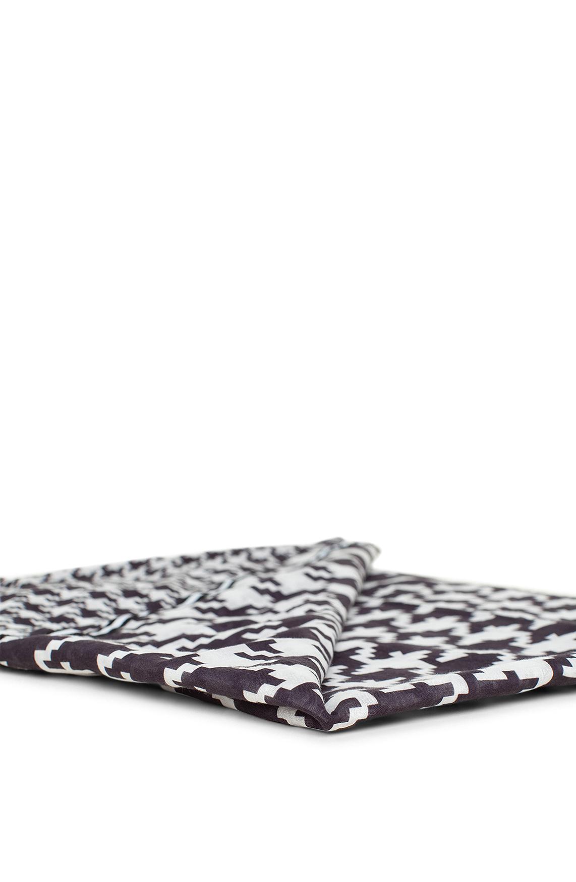 Anna Dames Pied-de-coque shawl zwart