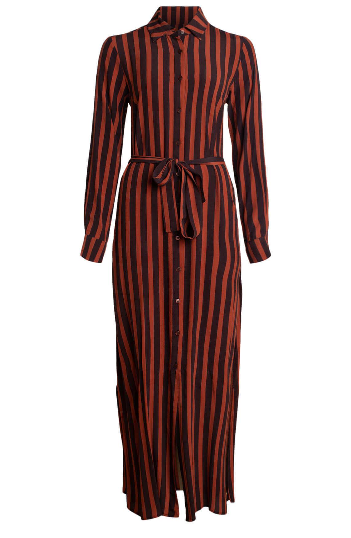 Moscow Dames Lange gestreepte jurk Bruin