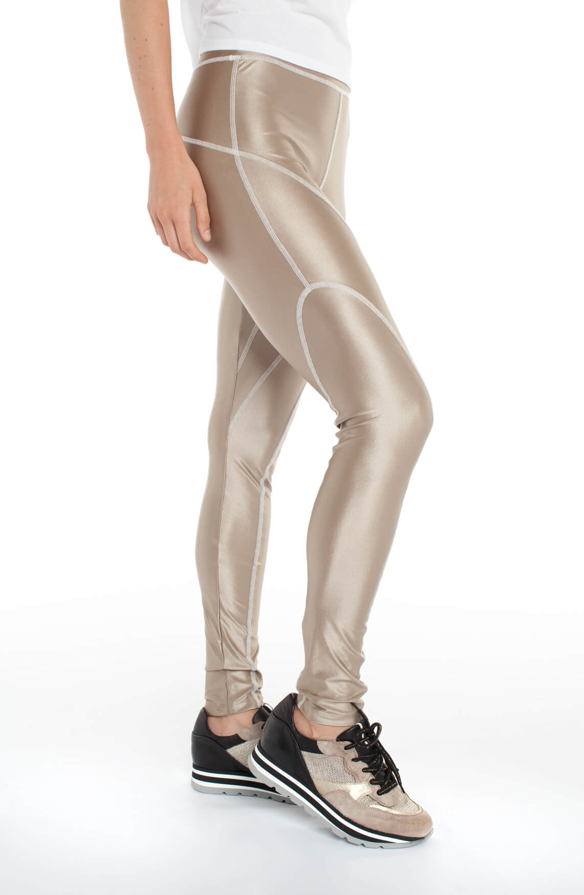 10 Days Dames Glanzende legging goud
