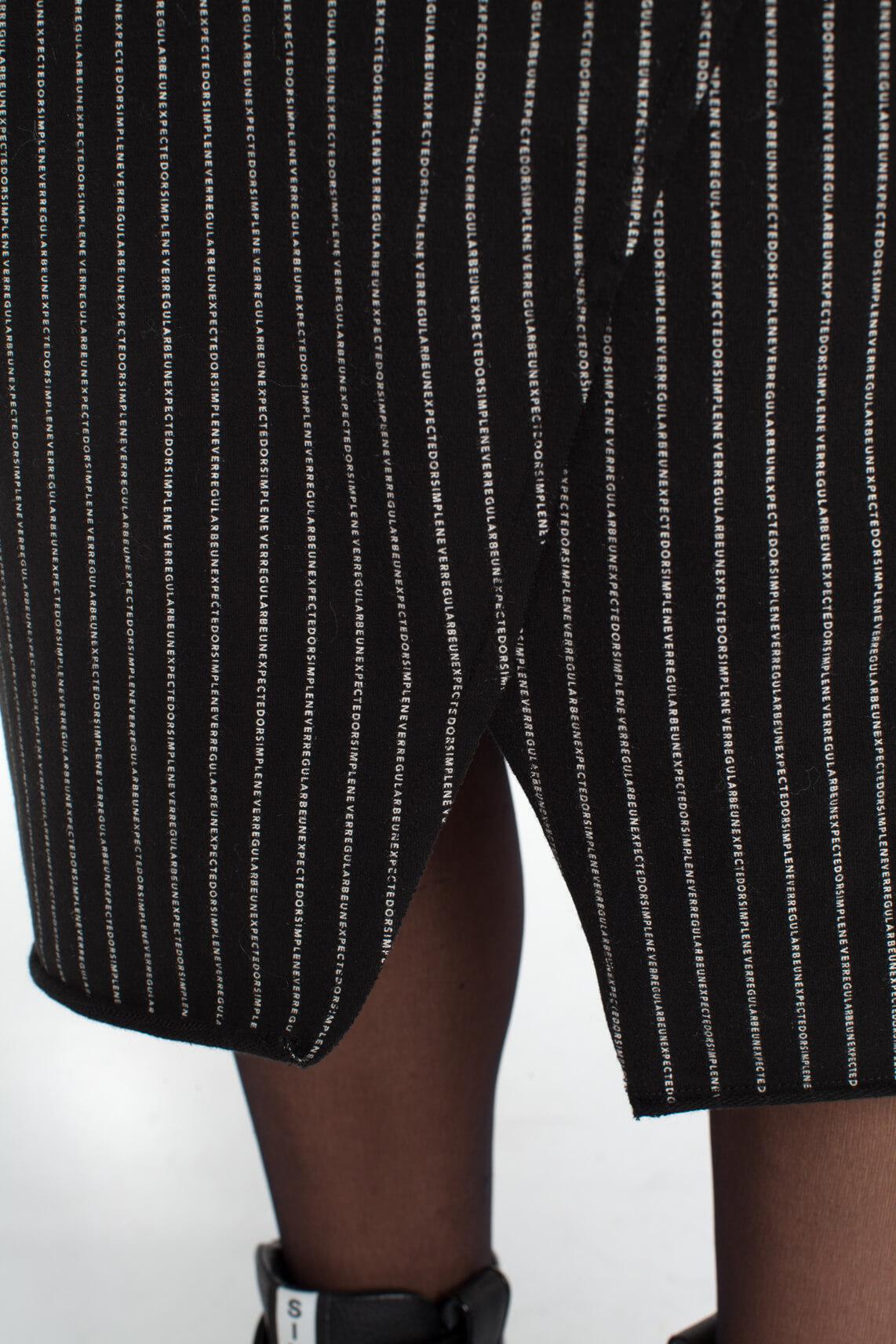 10 Days Dames Rok met tekstprint zwart