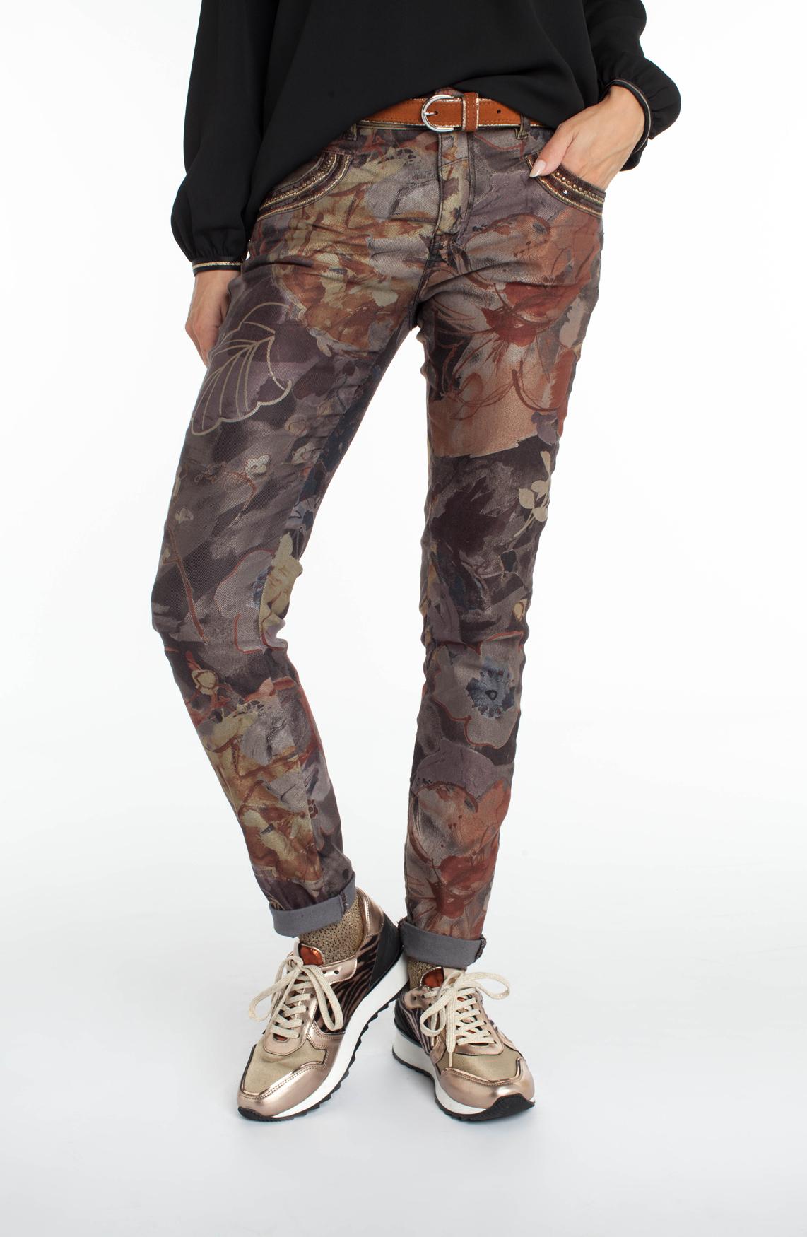 Mos Mosh Dames Naomi geprinte jeans Bruin