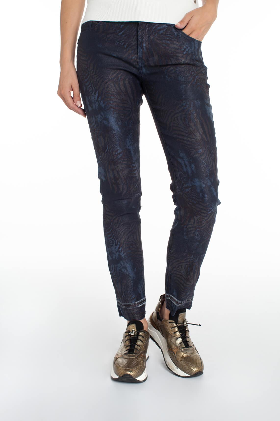 Mos Mosh Dames Sumner jeans met palmprint Blauw