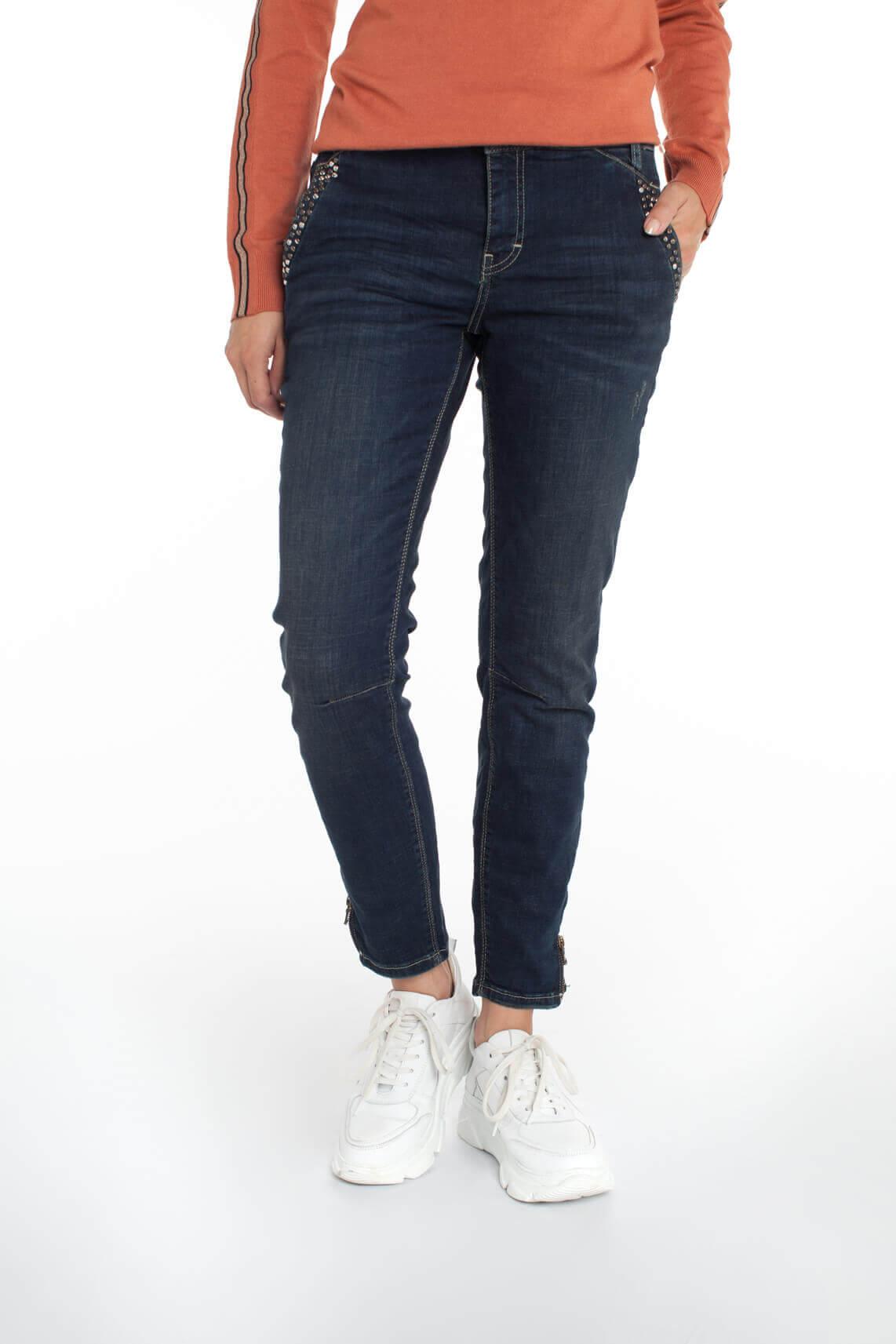 Mos Mosh Dames Trok jeans met studs Blauw