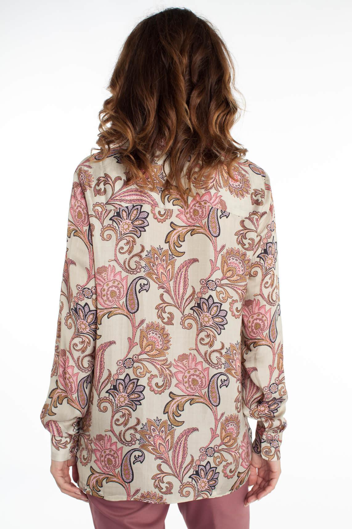 Mos Mosh Dames Taylor geprinte blouse roze