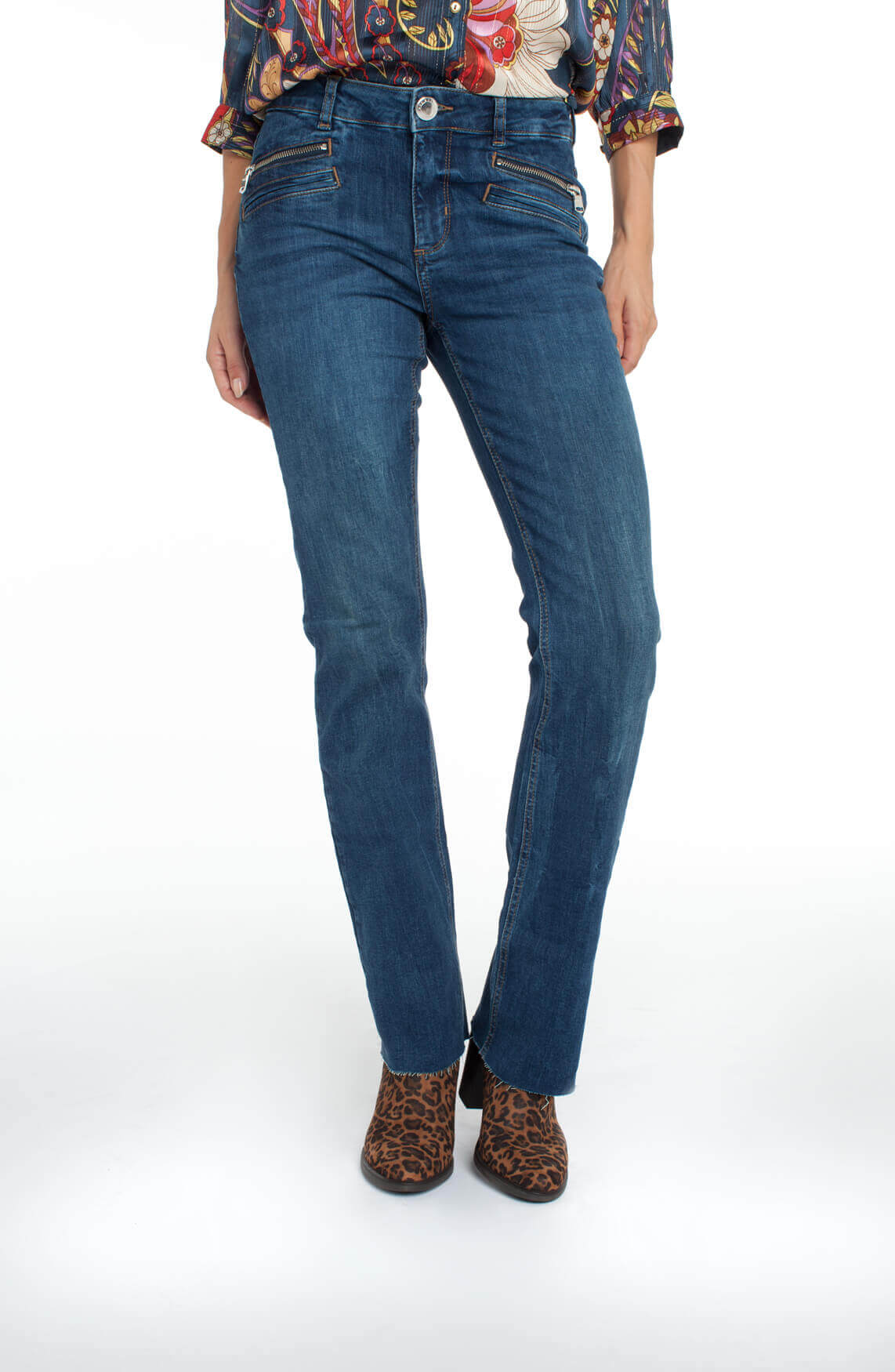 Mos Mosh Dames Sumner flared jeans Blauw
