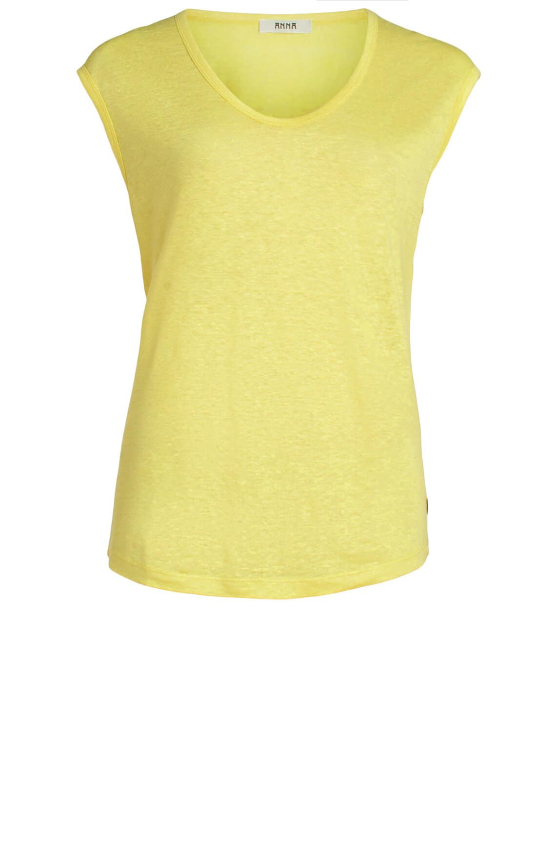Anna Dames Linnen shirt geel