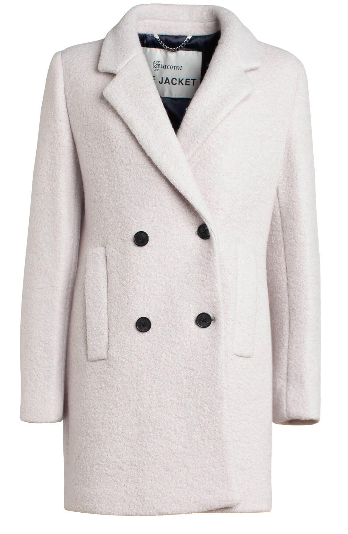 Giacomo Dames Wollen mantel wit | Anna van Toor
