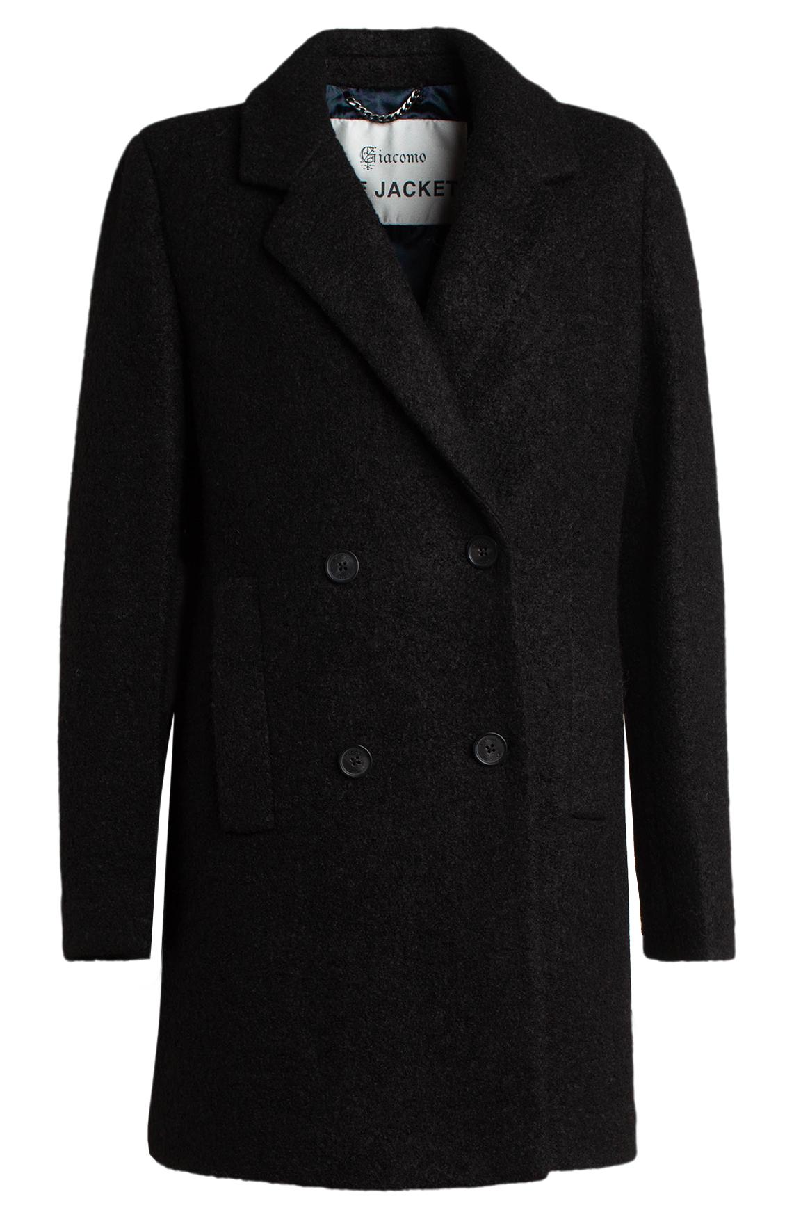 Giacomo Dames Wollen mantel zwart