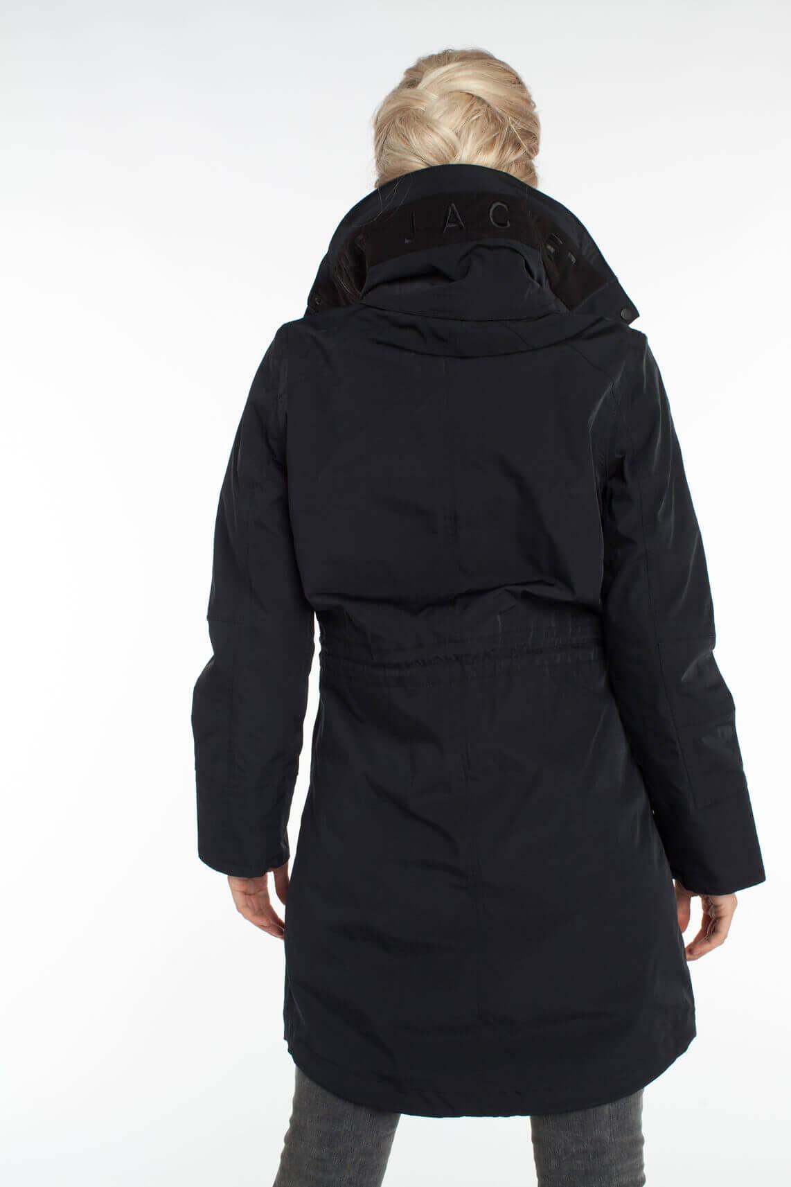 Giacomo Dames Waterproof jas zwart