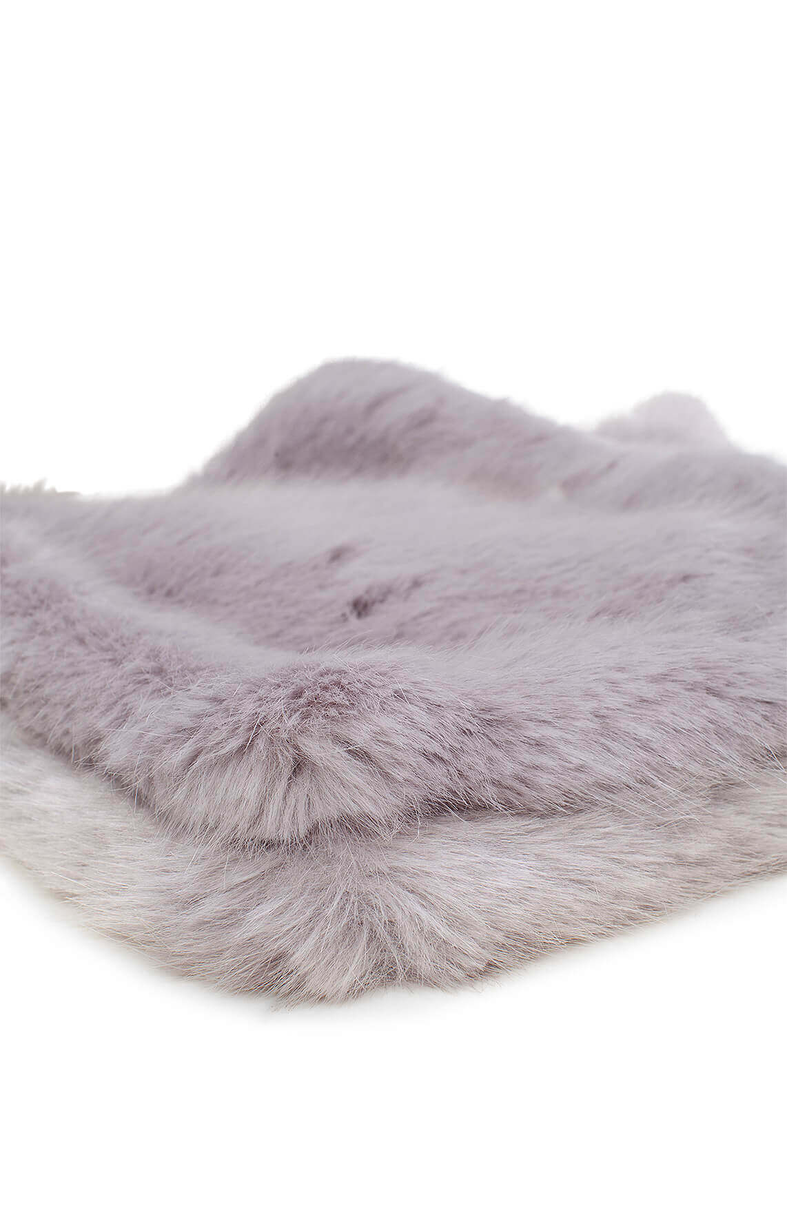 Giacomo Dames Fake fur shawl Grijs