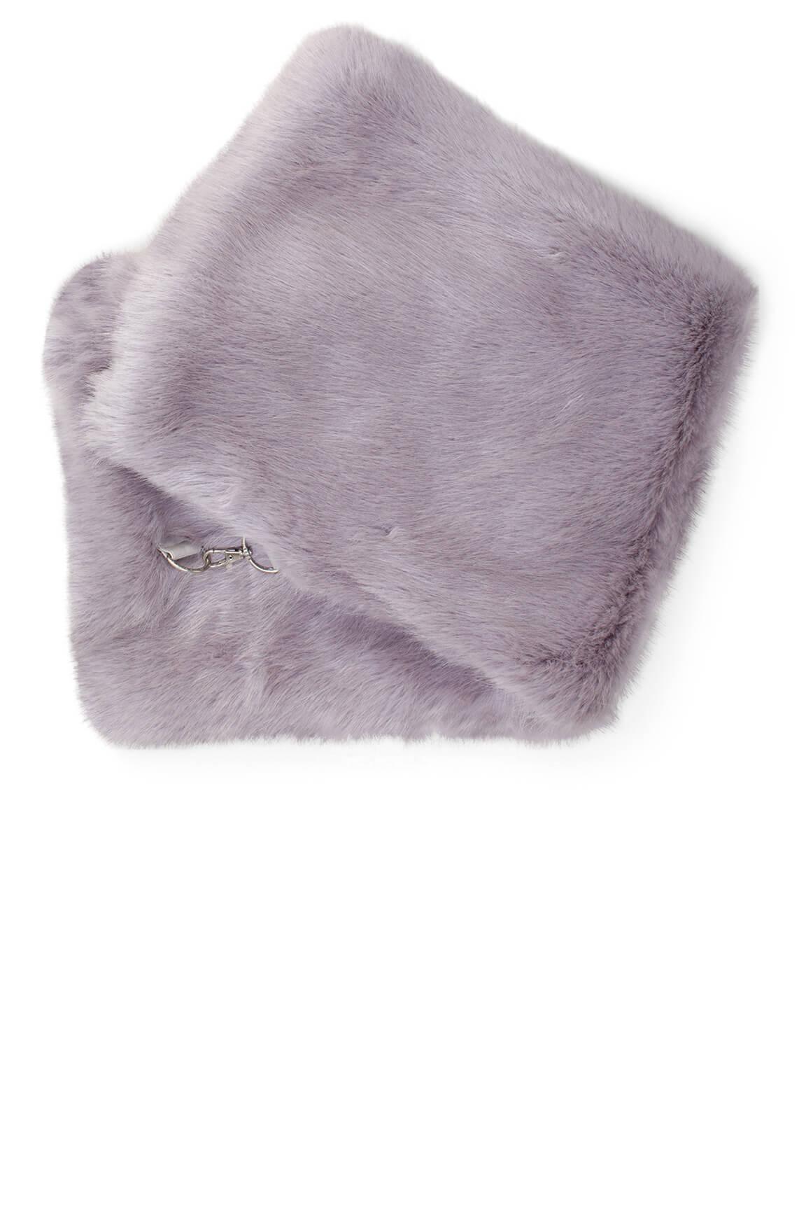 Giacomo Dames Fake fur shawl Grijs
