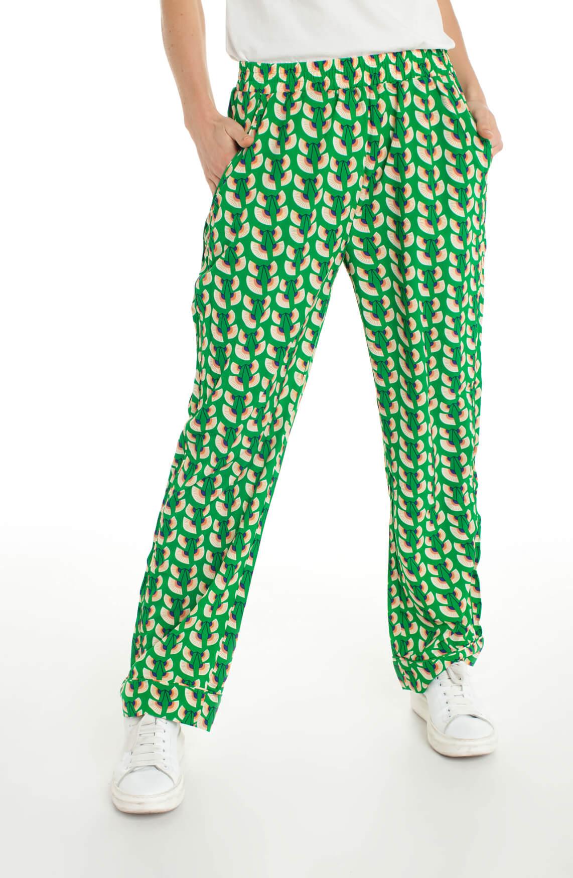 Lollys Laundry Dames Gipsy broek met print groen