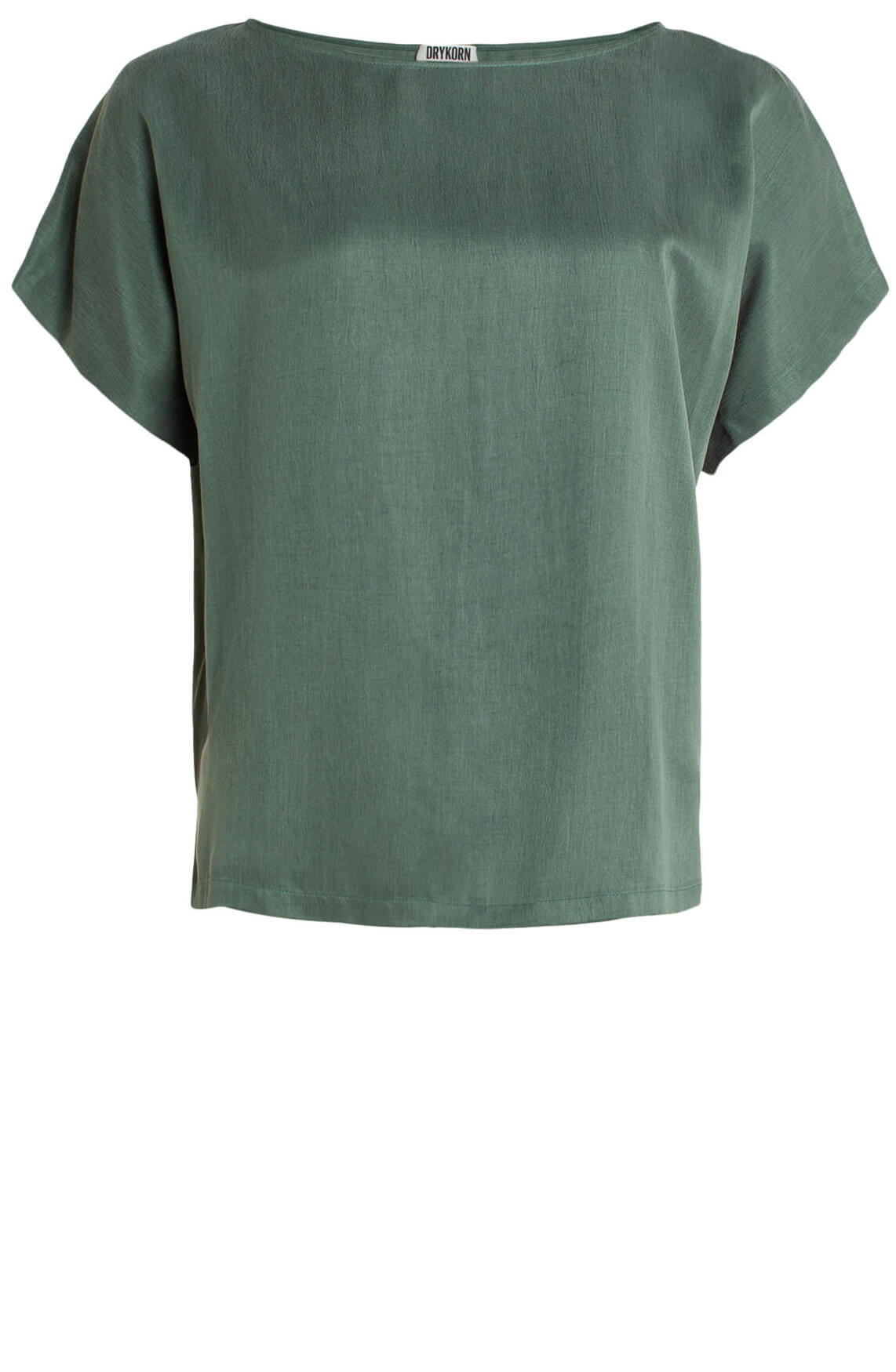Drykorn Dames Somia cupro blouse groen