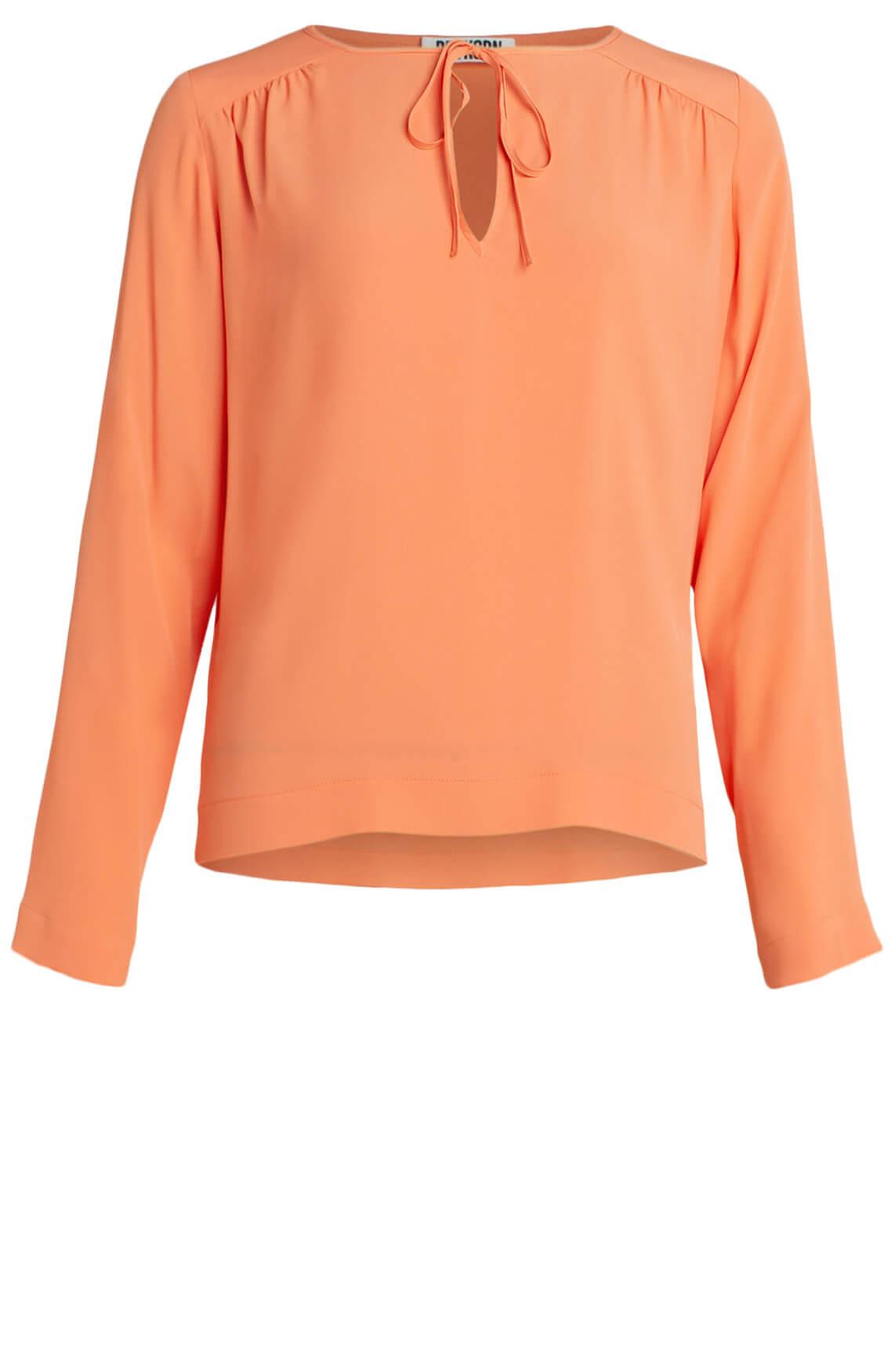 Drykorn Dames Emalia zijden blouse Oranje