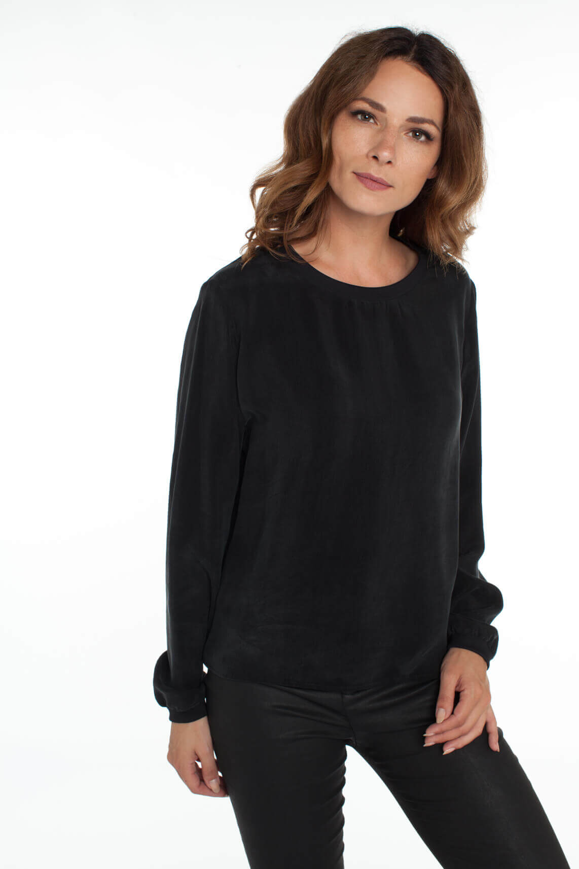 Drykorn Dames Debra cupro blouse zwart
