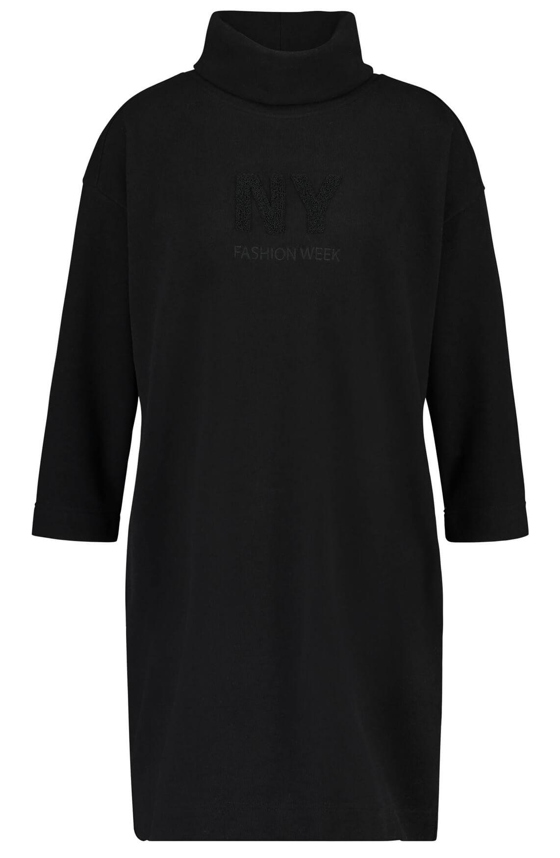 Penn & Ink Dames Sweatjurk met col zwart