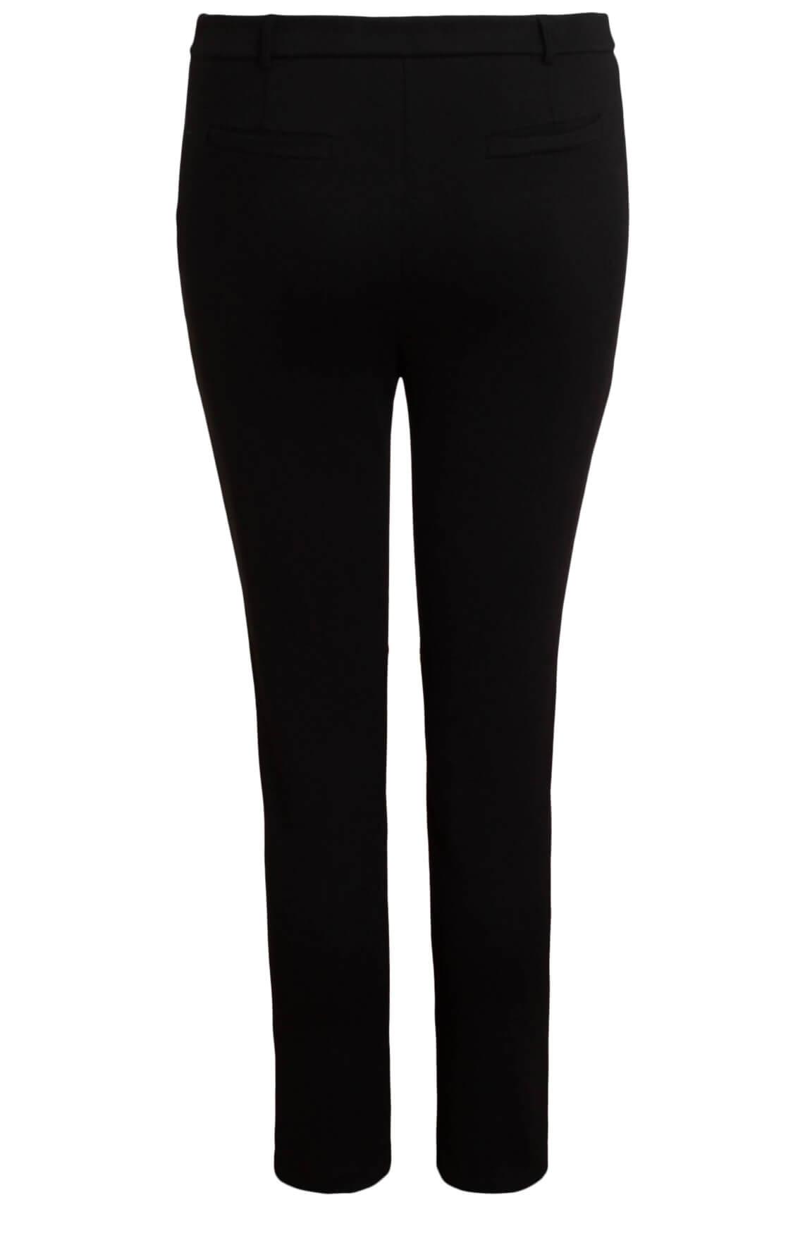 Penn & Ink Dames Jogpantalon met split zwart