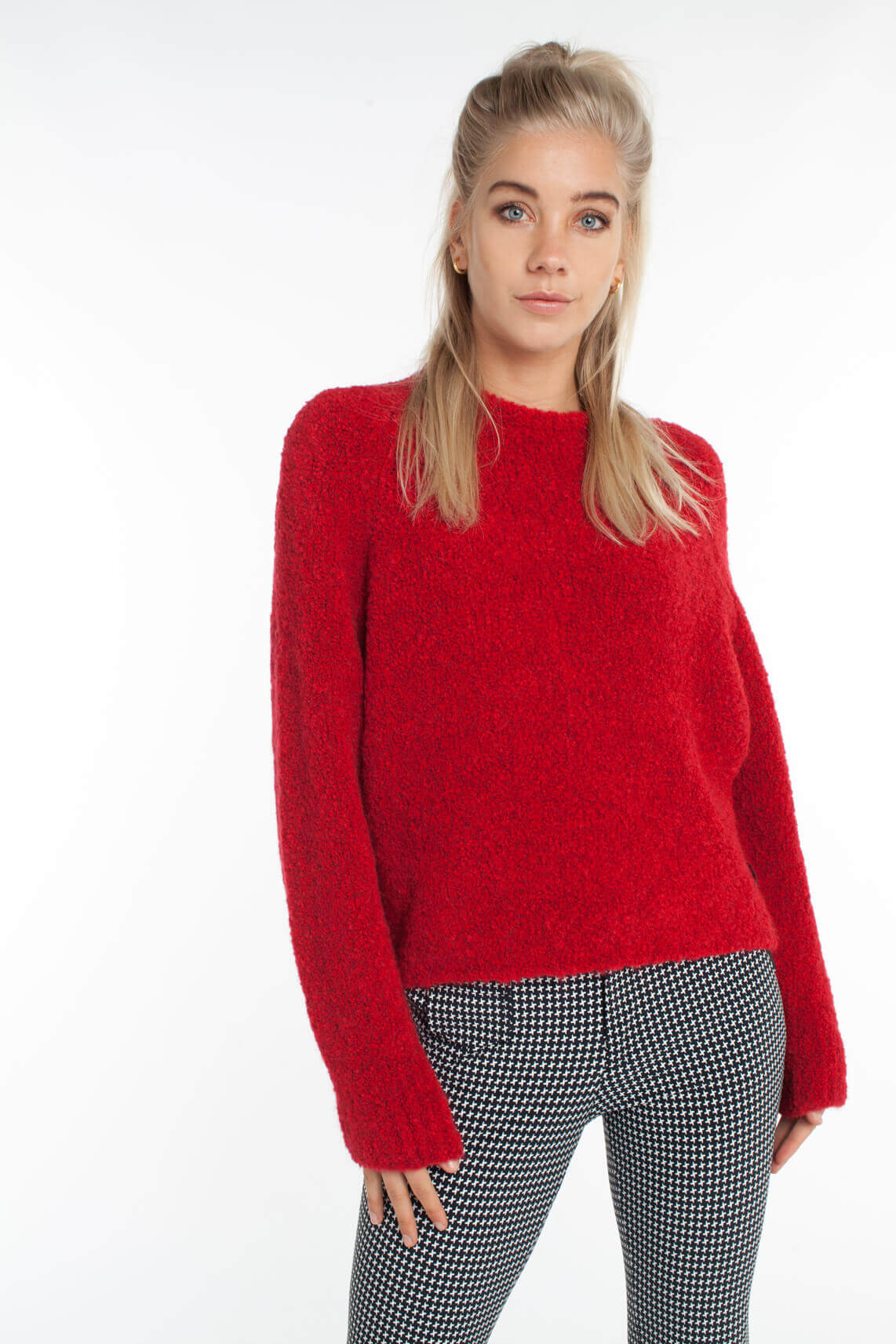 Penn & Ink Dames Pullover Rood