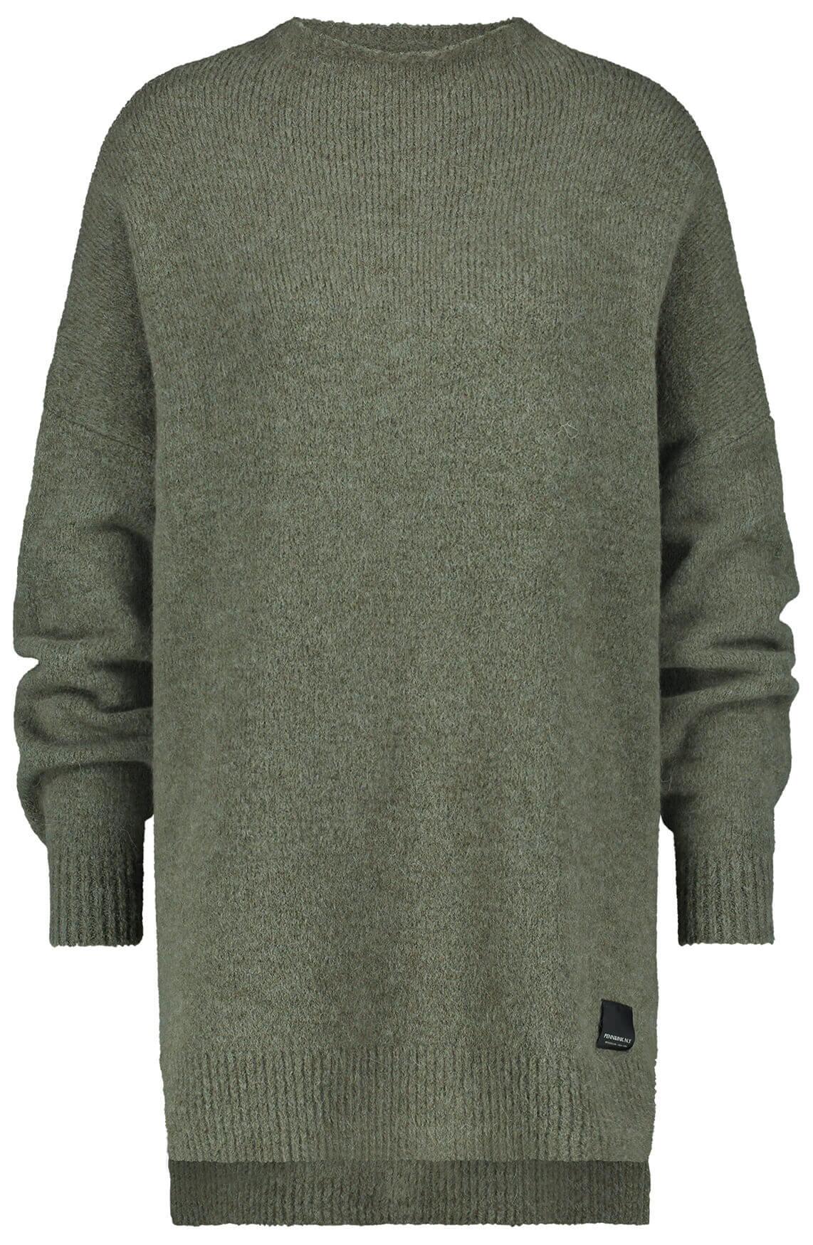 Penn & Ink Dames Oversized pullover groen