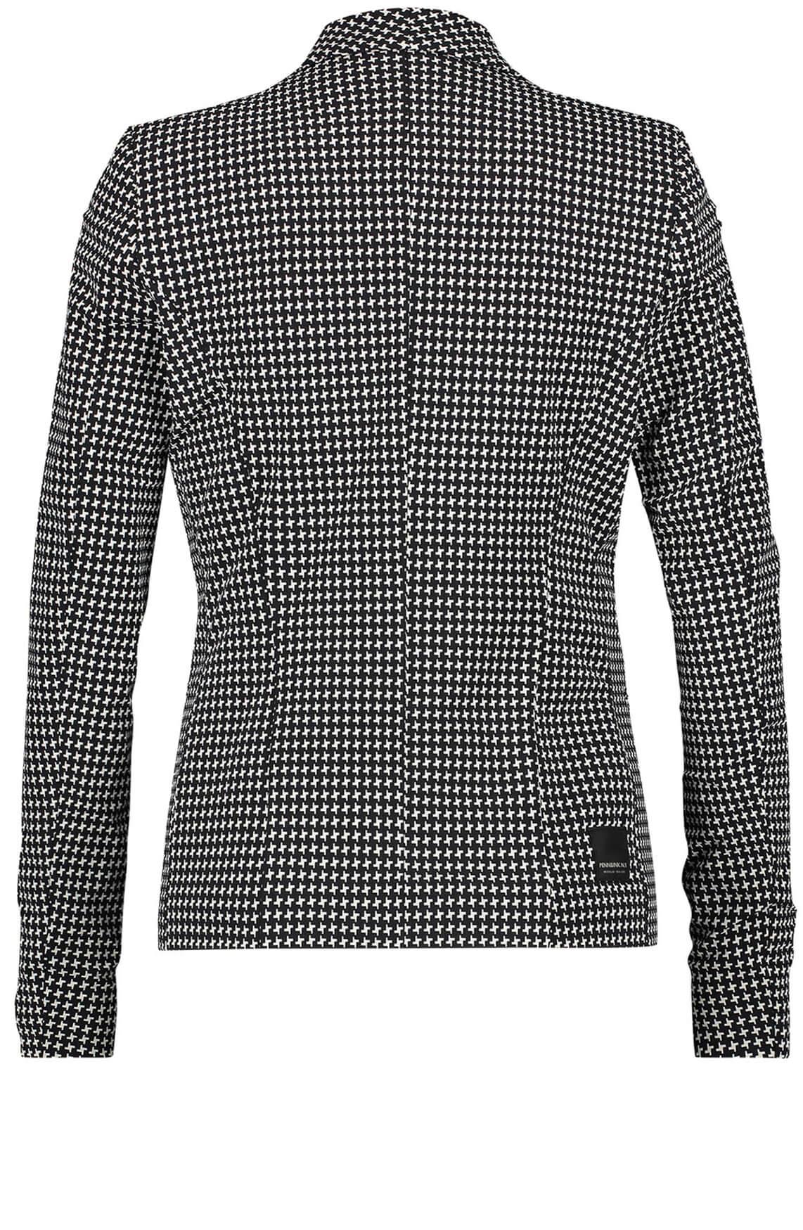 Penn & Ink Dames Blazer met grafische print zwart