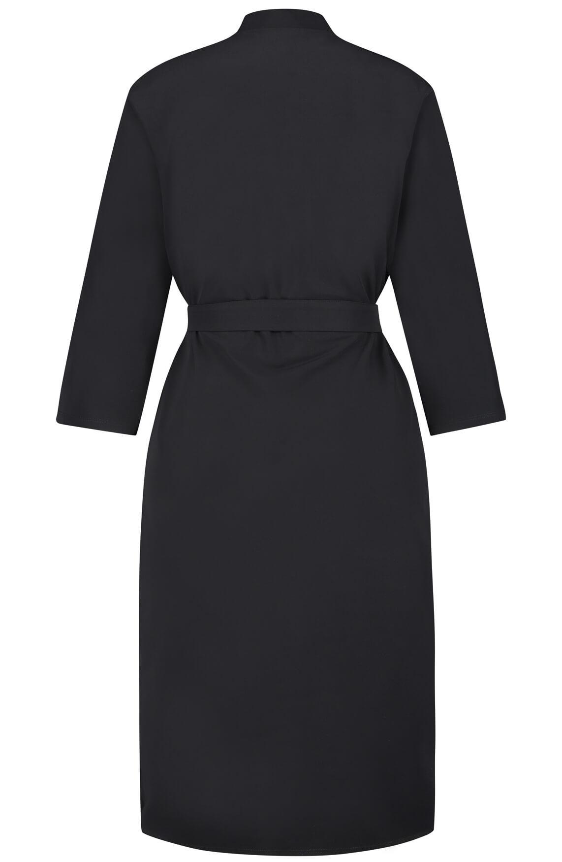 Penn & Ink Dames Jersey jurk zwart