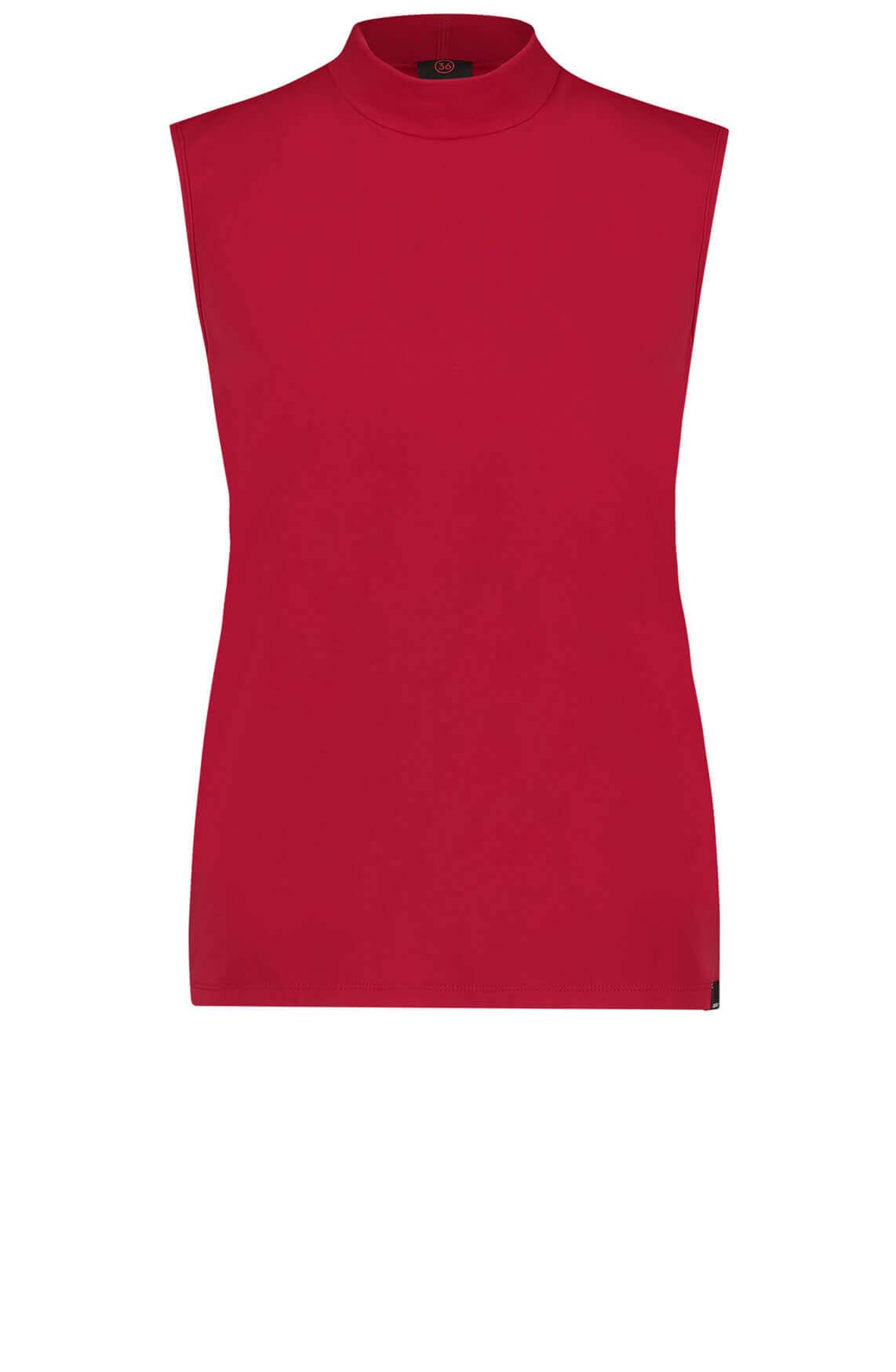 Penn & Ink Dames Mouwloze top Rood