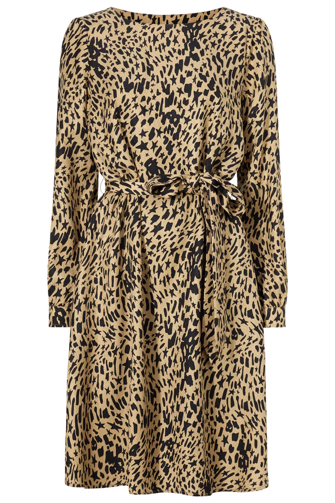 Fabienne Chapot Dames Helen jurk met print Bruin