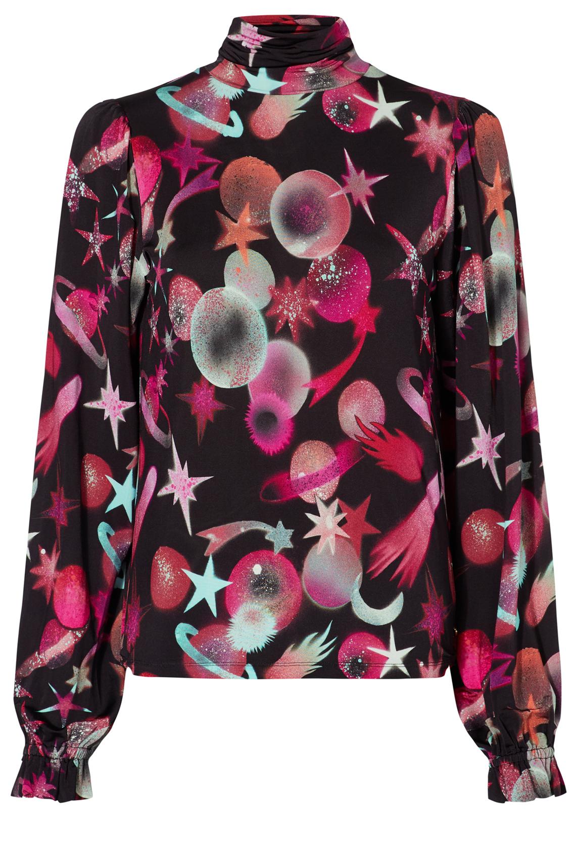 Fabienne Chapot Dames Billy shirt met pofmouwen roze
