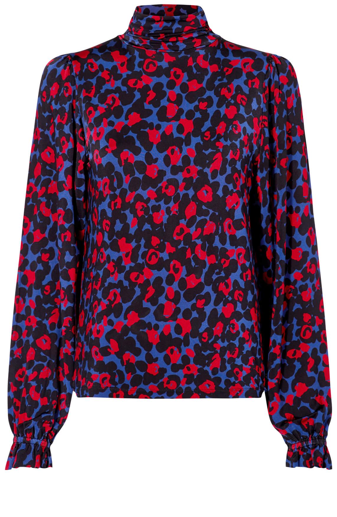 Fabienne Chapot Dames Billy shirt met pofmouwen Blauw