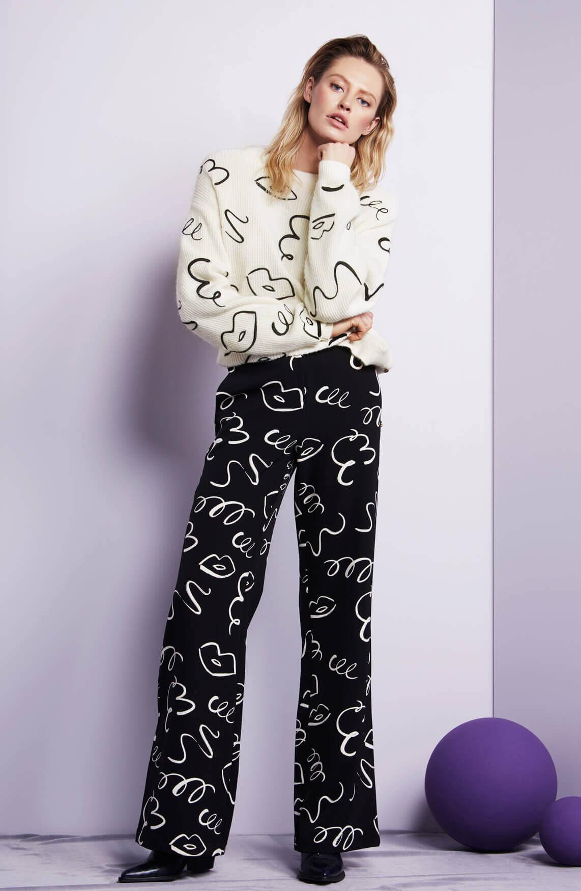 Fabienne Chapot Dames Puck high waisted broek zwart