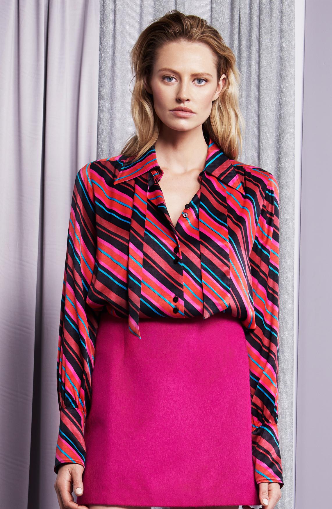 Fabienne Chapot Dames Paris gestreepte blouse roze