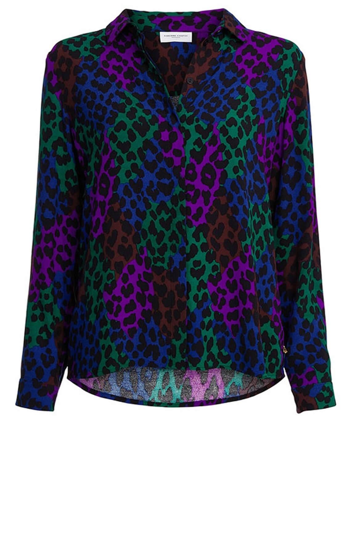 Fabienne Chapot Dames Perfect blouse met panterprint zwart