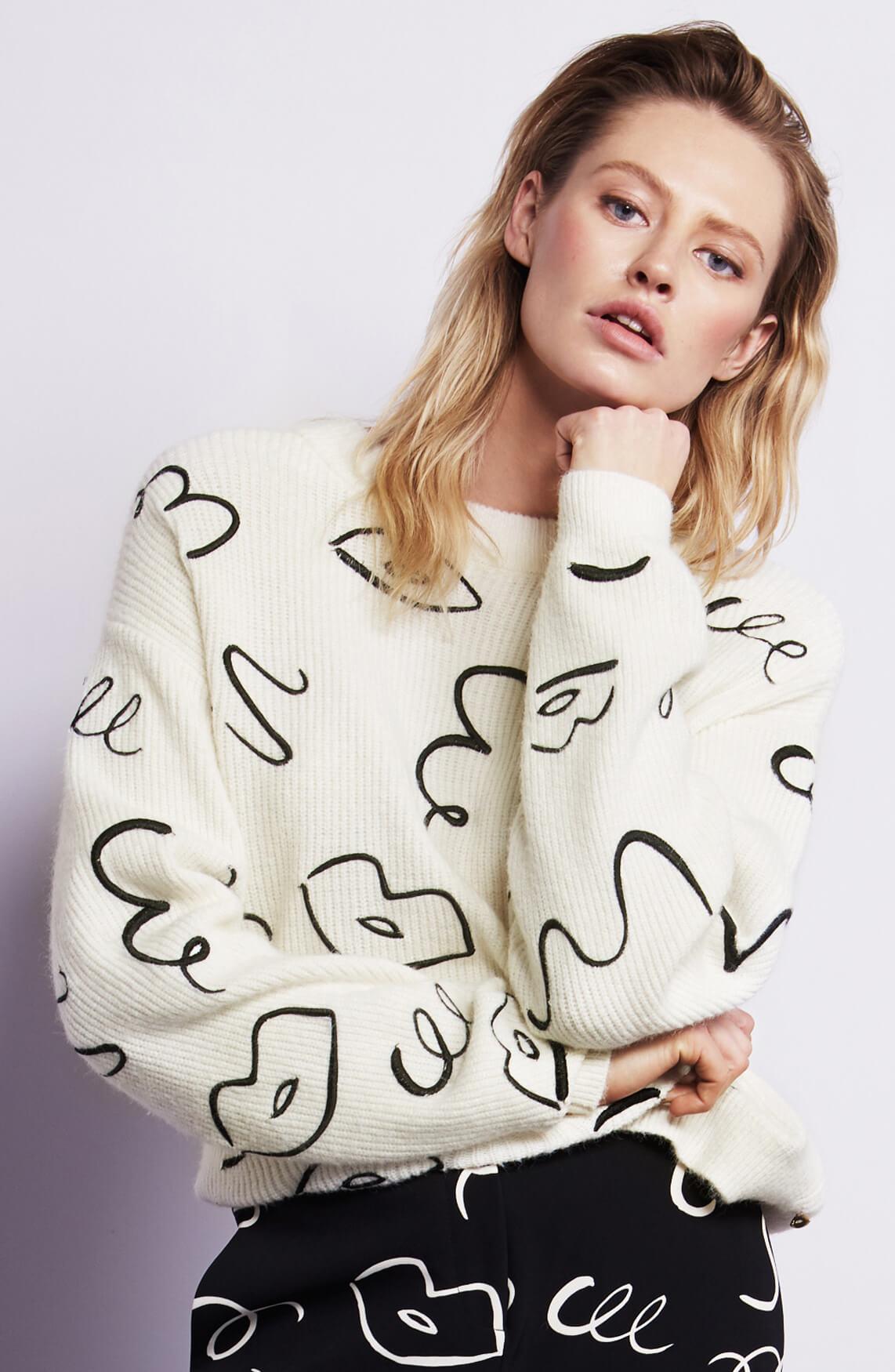 Fabienne Chapot Dames Doris pullover wit
