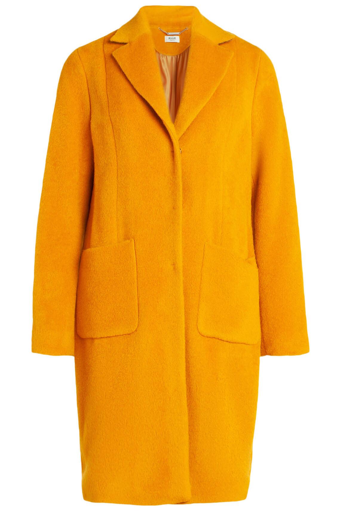 Anna Dames Wollen mantel geel